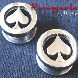 9/16 Screw Flesh Tunnels Ear Plug R..