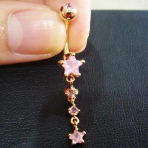 Star Belly Button Navel Rings Bar B..