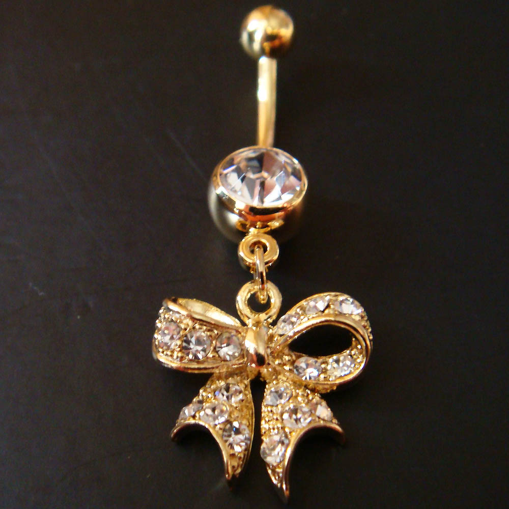 14g 3 8 cute bow belly button navel rings ring bar body