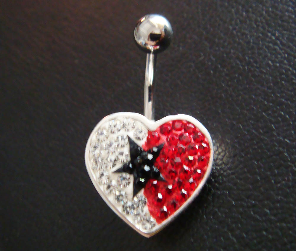 14g Cute heart love star belly rings navel ring bar button body piercing jewelry
